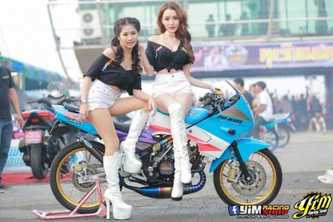 Kawasaki Kips 150 do cuc chat do dang cung bong hong cua biker Thailand
