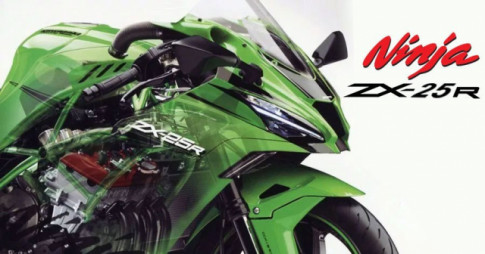 Kawasaki Ninja ZX-25R dong co 4 xy-lanh, 250cc duoc tiet lo gia ban tai Thai Lan
