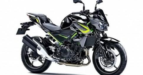 Kawasaki Z400 2020 bo sung mau moi voi dac trung khung mau xanh la