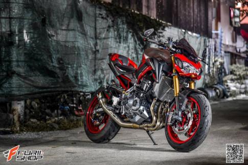 Kawasaki Z900 rực lửa với phong cách Red Candy