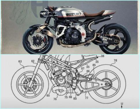 Lộ diện bảng thiết kế về mô hình Suzuki Cafe Racer Retro hoàn toàn mới