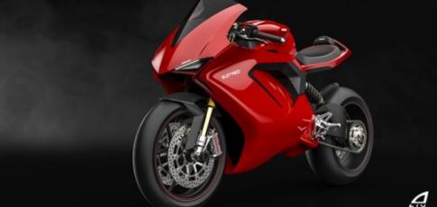 Lo dien thiet ke mau xe dien Ducati Panigale Electrico
