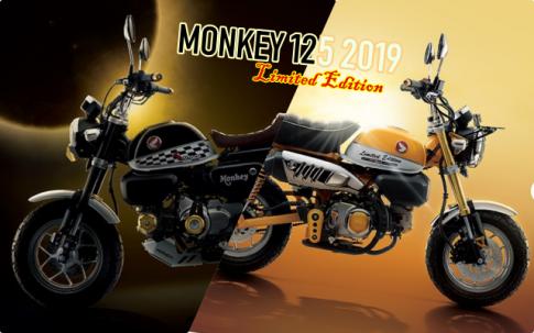 Monkey 125 2019 voi bo 3 phien ban dac biet gioi han day thu vi