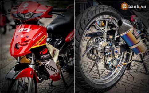 Suzuki FX 125 dọ: màn hòi sinh mãnh liẹt vói nièm khao khát 1 thòi của biker Viẹt