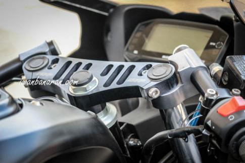 Suzuki GSX R150 với option đồ chơi chính hãng SARP tại thị trường Indo