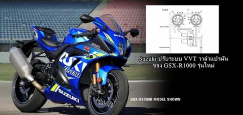 Suzuki he lo bang thiet ke Van VVT moi danh cho Suzuki GSX-R1000, canh tranh voi VTEC cua CBR1000RR