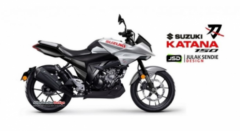 Suzuki Katana 150 lo dien hinh anh thiet ke kha thu vi