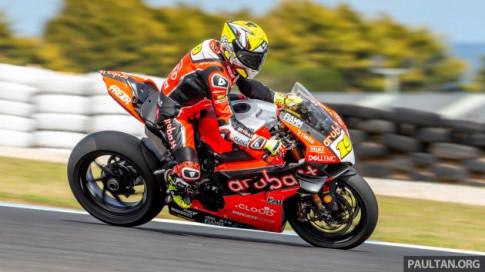 Thử nghiệm trước cuộc đua WSBK 2019: Bautista đứng đầu với Ducati V4R