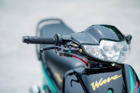 Wave 110 độ khó thở với option đồ chơi hạng nặng của biker Hà Thành