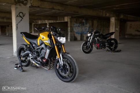 Yamaha MT-09 do chat lu va day cam xuc cua Nu Biker Thai