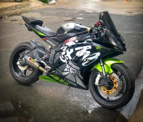 Yamaha R6 do kich doc voi phong cach tem dau cua Biker Viet