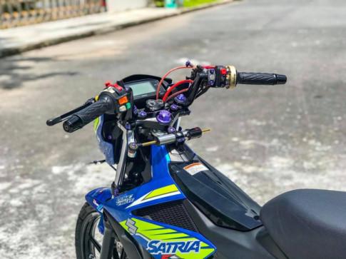 Can canh Satria 150 do Full bai kieng dep long lon