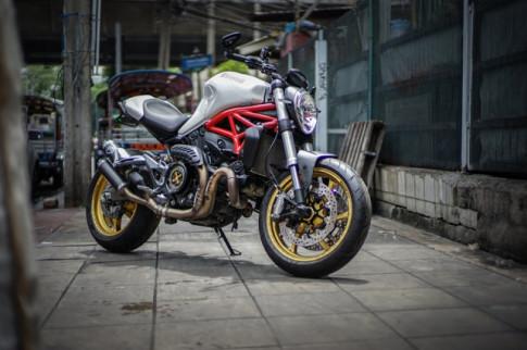 Ducati Monster 821 nang tam cam xuc voi dan chan dang cap