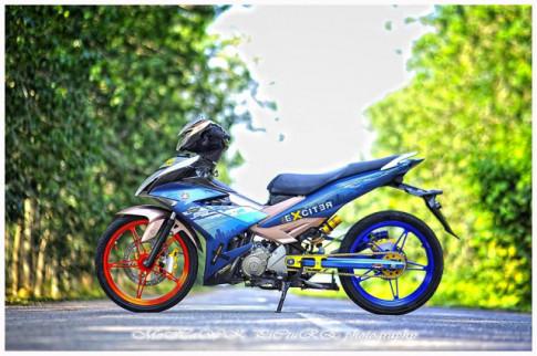 Exciter 150 do 2 cap mam CNC cua biker den tu Malaysia