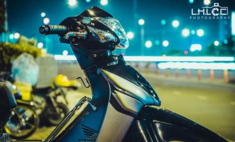 Honda Wave độ: biến thể mới đẹp lung linh giữa màn đêm Sài Thành