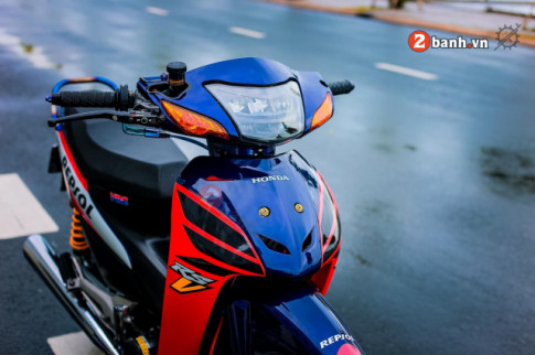 Honda Wave Repsol do: bien the moi dep tao bao cua dan choi Can Tho