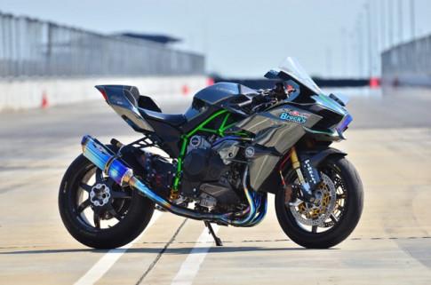 Kawasaki Ninja H2 do sieu khung tu ngoai vao trong voi suc manh 260 ngua