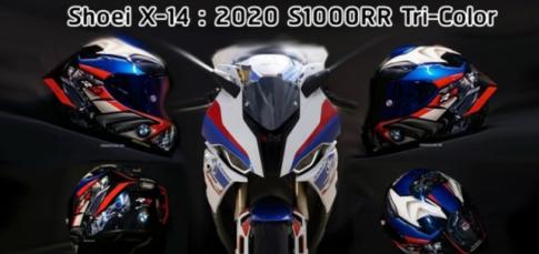 Ra mat Shoei X-14 BMW S1000RR Tricolor doc quyen cua Shin Abe Works