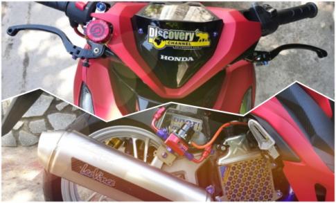 Vario 150 do cuc chat va doc dao voi giam xoc sau tu Ducati