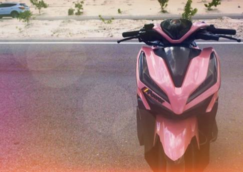 Vario 150 độ nữ tính với gam màu hồng cùng dàn chân lạ mắt