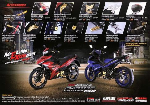 Yamaha Thái Lan ra mắt dàn phụ kiện trang trí cho Exciter 150 và giá bán cụ thể