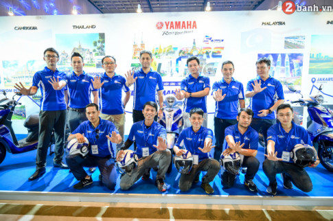Yamaha VN to chuc hanh trinh ASEAN TOURING nham ky niem 5 nam ra mat dong co Blue Core