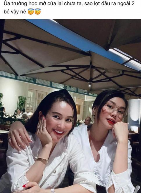 Khong vay dam long lay, Thanh Hang va vo Binh Minh hoa nu sinh voi ao so mi gian di