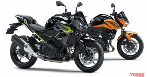 Kawasaki ra mat Z400 2020 va Z250 2020 voi dien mao moi day loi cuon
