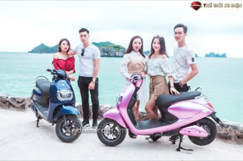 Xe máy điện Buttefly Dibao thiết kế nữ tính, thanh lịch